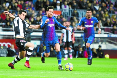 Lionel Messi osiąga legendarną płytę